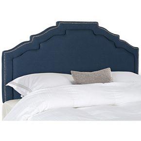 Safavieh Alexia Steel Blue Linen Headboard