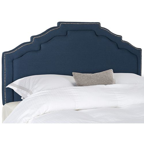 Safavieh Alexia Steel Blue Linen Headboard
