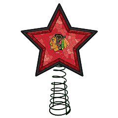 Chicago Blackhawks Mosaic Christmas Tree Topper