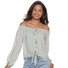 NEW! Juniors' Rewind Off-The-Shoulder Top