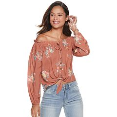 8fbec16983533 Juniors  Rewind Off-The-Shoulder Top