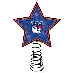 New York Rangers Mosaic Christmas Tree Topper