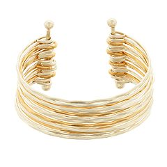 18 BIRCH MRKT Gold & Silver Tone Multi Row Bangle Bracelet