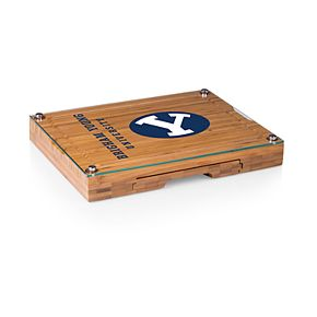 BYU Cougars Concerto Glass-Top Cutting Board Set