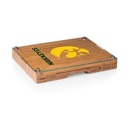 Iowa Hawkeyes Concerto Glass-Top Cutting Board Set