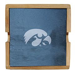 Iowa Hawkeyes Slate Coaster Set