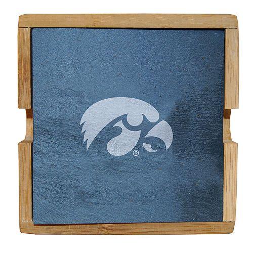 Iowa Hawkeyes Slate Coaster Set