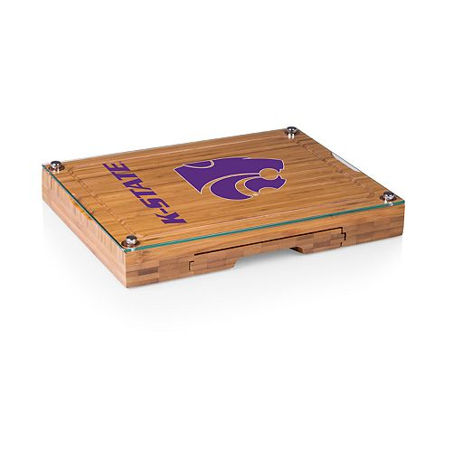 Kansas State Wildcats Concerto Glass-Top Cutting Board Set