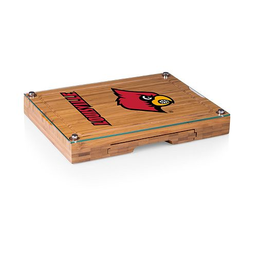 Louisville Cardinals Concerto Glass-Top Cutting Board Set