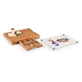 LSU Tigers Concerto Glass-Top Cutting Board Set