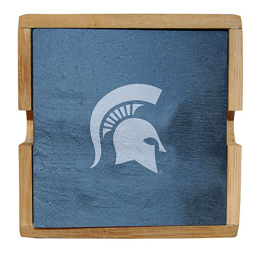 Michigan State Spartans Slate Coaster Set