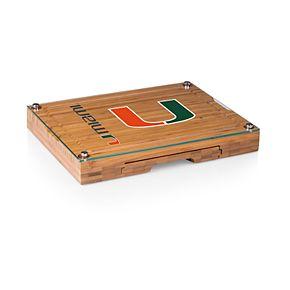 Miami Hurricanes Concerto Glass-Top Cutting Board Set