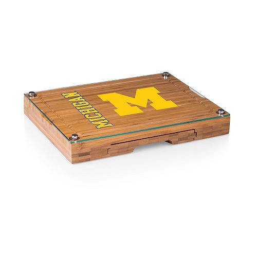 Michigan Wolverines Concerto Glass-Top Cutting Board Set