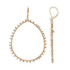 18 BIRCH MRKT Two Tone Beaded Teardrop Earrings
