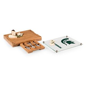Michigan State Spartans Concerto Glass-Top Cutting Board Set