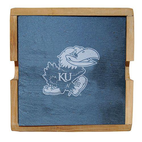 Kansas Jayhawks Slate Coaster Set