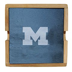Michigan Wolverines Slate Coaster Set