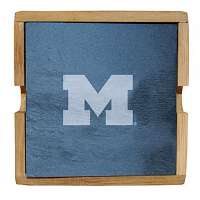 Michigan Wolverines Slate Coaster Set