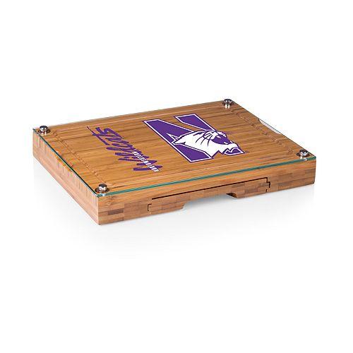 Northwestern Wildcats Concerto Glass-Top Cutting Board Set