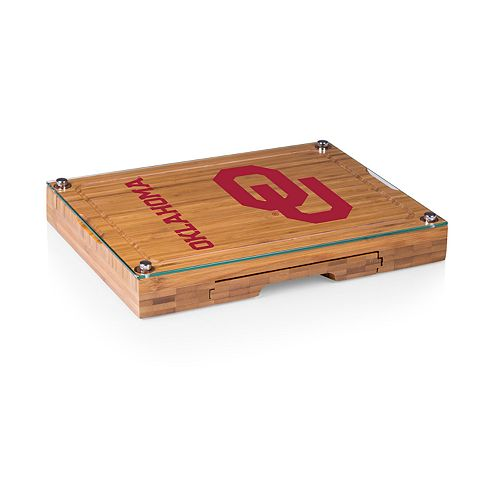 Oklahoma Sooners Concerto Glass-Top Cutting Board Set