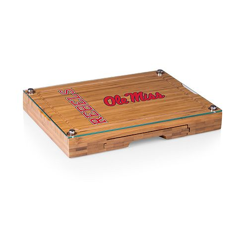 Ole Miss Rebels Concerto Glass-Top Cutting Board Set