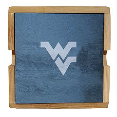 West Virginia Mountaineers Slate Coaster Set
