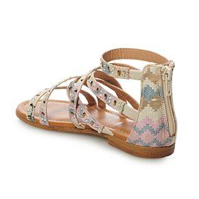SO® Palm Tree Girls' Gladiator Sandals