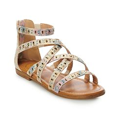 SO® Palm Tree Girls' Gladiator Sandals