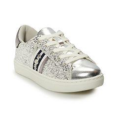 SO Girls' Glitter Low Top Sneakers