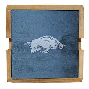 Arkansas Razorbacks Slate Coaster Set