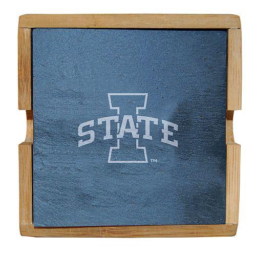 Iowa State Cyclones Slate Coaster Set
