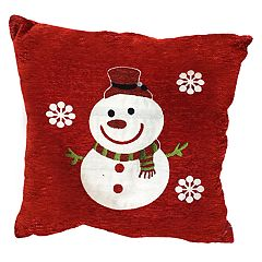 Popular Home Snowman Flakes Pillow
