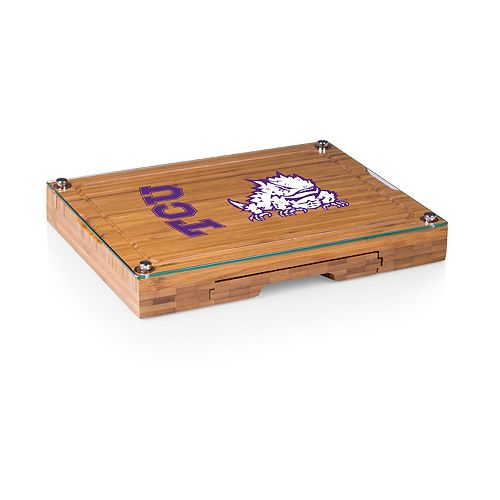 TCU Horned Frogs Concerto Glass-Top Cutting Board Set