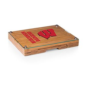Wisconsin Badgers Concerto Glass-Top Cutting Board Set