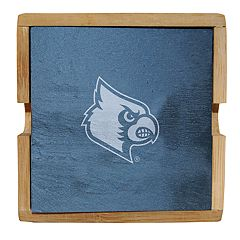 Louisville Cardinals Slate Coaster Set