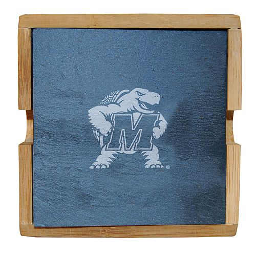 Maryland Terrapins Slate Coaster Set