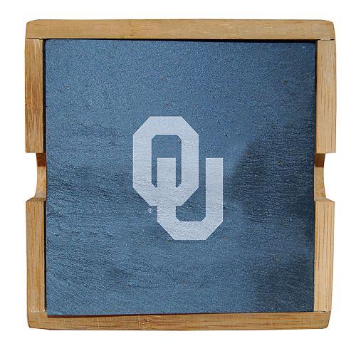 Oklahoma Sooners Slate Coaster Set