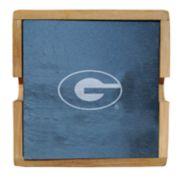 Georgia Bulldogs Slate Coaster Set