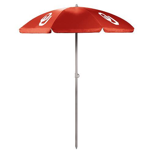 Picnic Time Oklahoma Sooners Portable Beach Umbrella