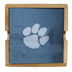 Clemson Tigers Slate Coaster Set