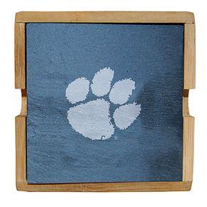 Clemson Tigers Slate Coaster Set