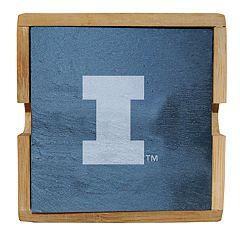 Illinois Fighting Illini Slate Coaster Set
