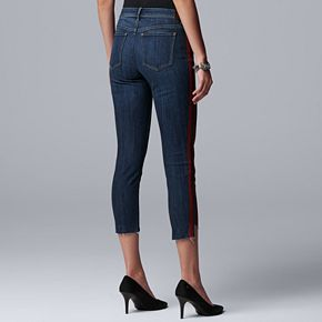 Women's Simply Vera Vera Wang Side-Stripe Skinny Ankle Jeans