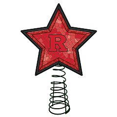 Rutgers Scarlet Knights Mosaic Christmas Tree Topper