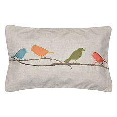Spencer Home Finches Throw Pillow