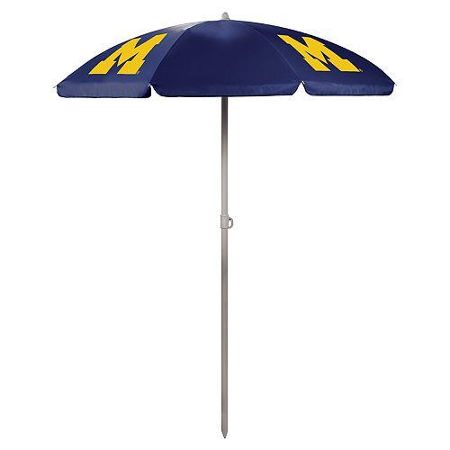 Picnic Time Michigan Wolverines Portable Beach Umbrella