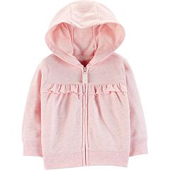 Baby Girl Carter's Ruffled Hooded Cardigan