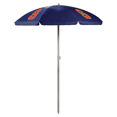 Picnic Time Syracuse Orange Portable Beach Umbrella