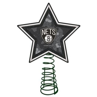 Brooklyn Nets Mosaic Christmas Tree Topper
