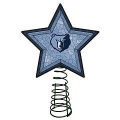 Memphis Grizzlies Mosaic Christmas Tree Topper